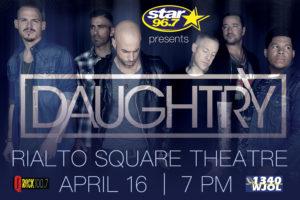 Star 96.7, Q-Rock and 1340 WJOL Present Daughtry Rialto Square Theatre April 16, 2018
