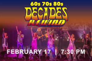 DECADES REWIND SET TO PERFORM AN AUDIENCE FAVORITE THEATRICAL CONCERT AT RIALTO