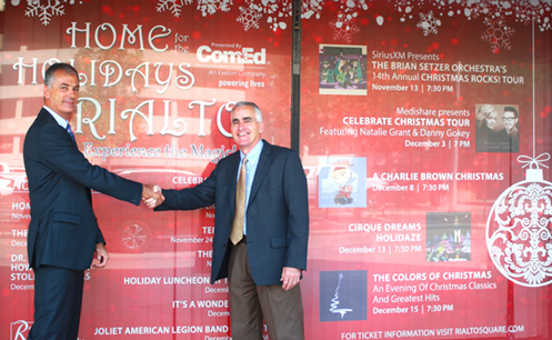 ComEd TO BE PRESENTING SPONSOR FOR RIALTO SQUARE THEATRE'S HOME FOR THE HOLIDAYS