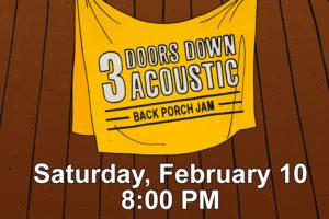 """3 DOORS DOWN ANNOUNCES """"BACK PORCH JAM"""" TOUR"""