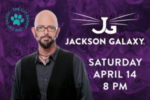 TV Celebrity, and Cat Behaviorist, Jackson Galaxy to Perform at Rialto Square Theatre on April 14!