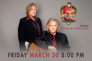 MATTHEW AND GUNNAR NELSON TAKE THEIR RICKY NELSON REMEMBERED CELEBRATION CONCERT TO THE RIALTO