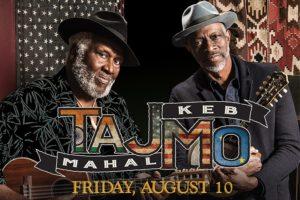 TAJMO: TAJ MAHAL AND KEB' MO' BAND AT THE RIALTO SQUARE THEATRE ON AUGUST 10TH
