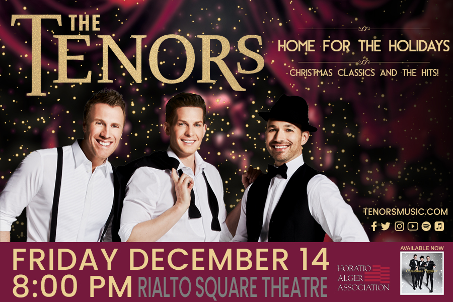 THE TENORS BRING HOLIDAY CHEER TO RIALTO SQUARE THIS DECEMBER!