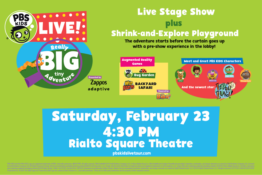 PBS KIDS LIVE BRINGS THEIR INTERACTIVE SHOW TO THE RIALTO