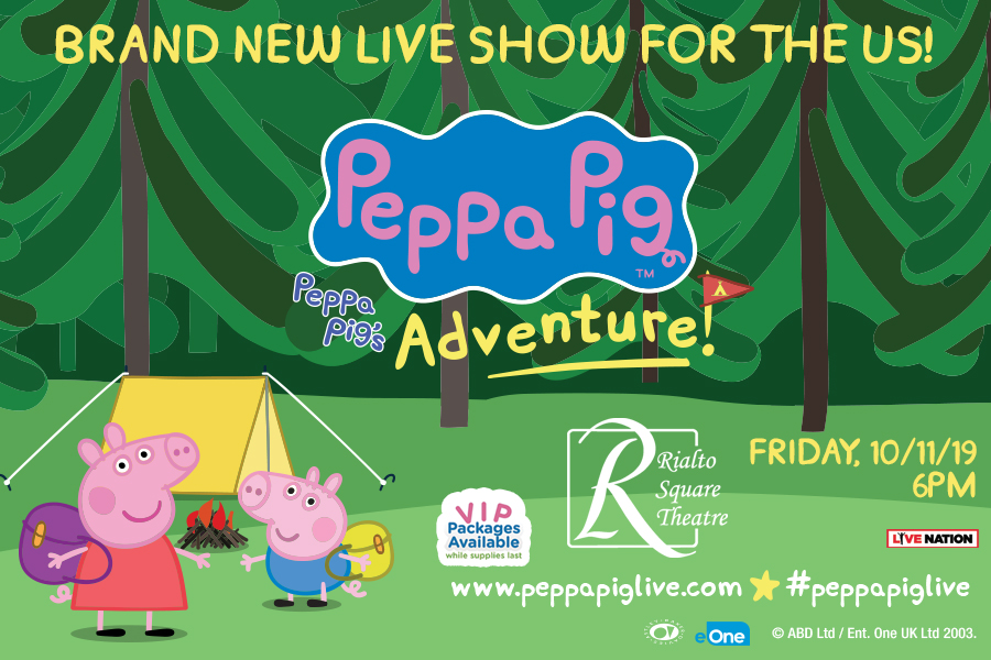 NICK JR'S PEPPA PIG IS HEADED TO THE RIALTO SQUARE THEATRE THIS FALL