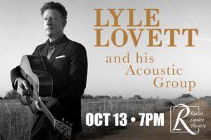 lyle lovett live on october 13
