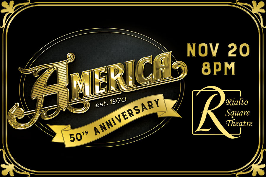 America to Play Rialto Square Theatre as Part of Their 50th Anniversary Tour