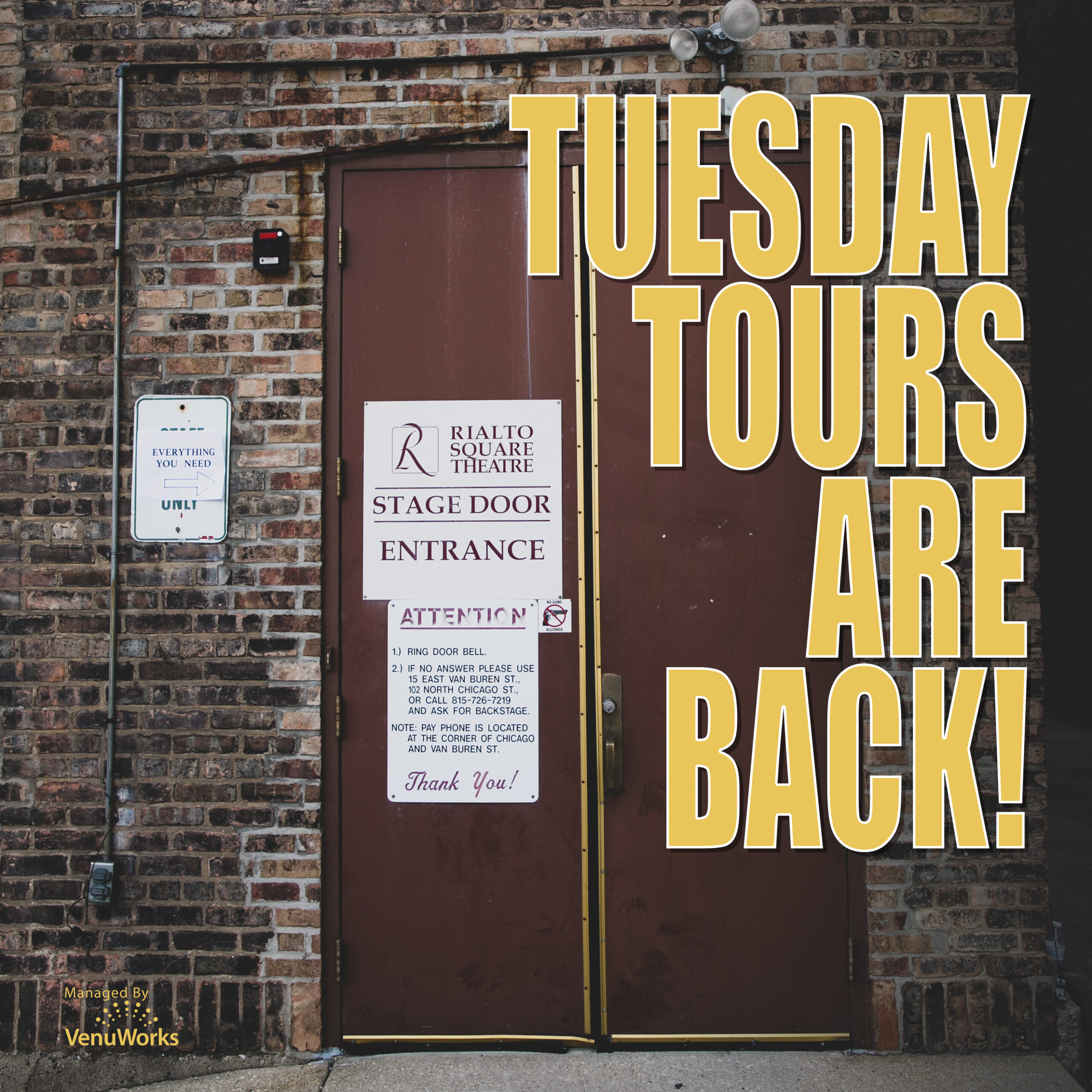 Tuesday Tours Are Back
